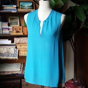 L'agence Silk Sleeveless Top Blouse V neck